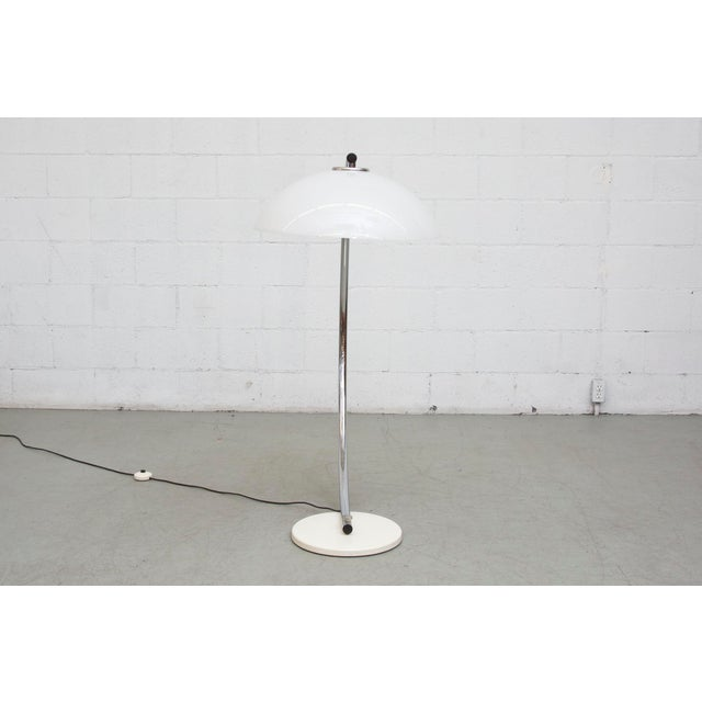perspex chrome arc floor lamp chairish. Black Bedroom Furniture Sets. Home Design Ideas