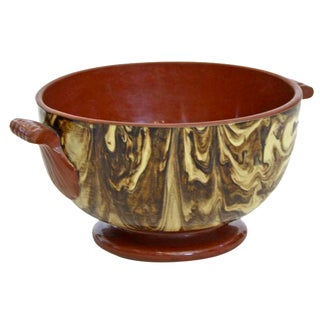 French Marbled Bowl With Handles