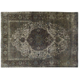 Distressed Grey Overdyed Rug - 6′7″ × 9′7″