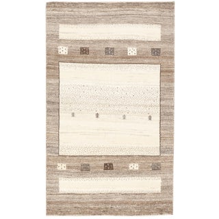 "Persian Loribuff Neutral Hand Spun Wool Rug by Zollanvari - 2'10"" x 4'7"""
