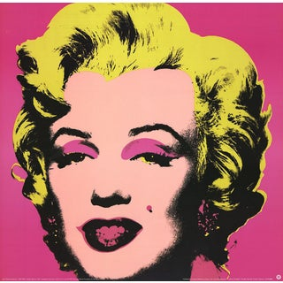 1999 Small Marilyn Pink Poster by Andy Warhol
