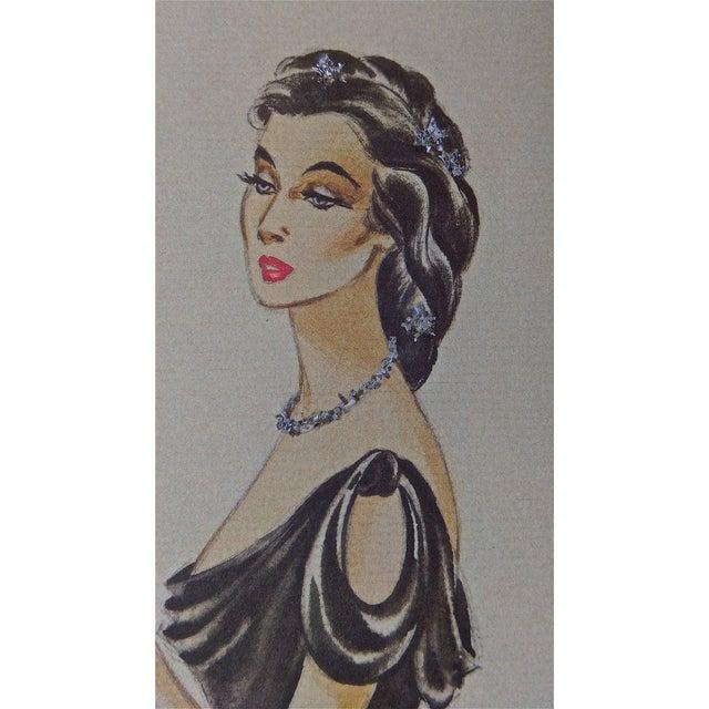The Great Sinner Velvet Draped Skirt Lithograph - Image 4 of 9