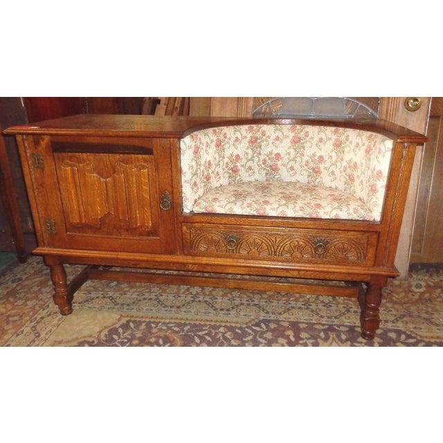 Edwardian Mid-Century Telephone Sofa Bench - Image 2 of 11