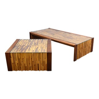 Percival Lafer Brazilian Brutalist Coffee Table Set
