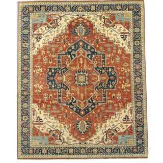Pasargad N Y Fine Indo Hand-Knotted Serapi Rug - 8' X 10'
