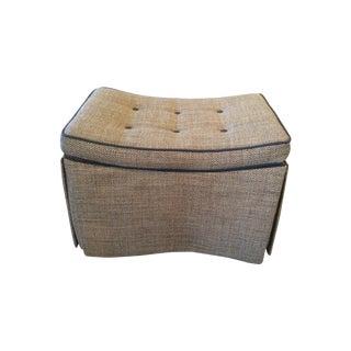 Skirted Saddle Seat Ottoman