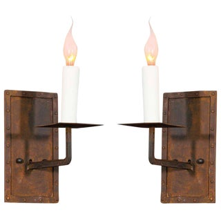 "Pair of ""Bexar"" Hand-Made Iron Sconces"