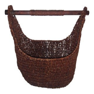 Dark Brown Sea Grass Basket