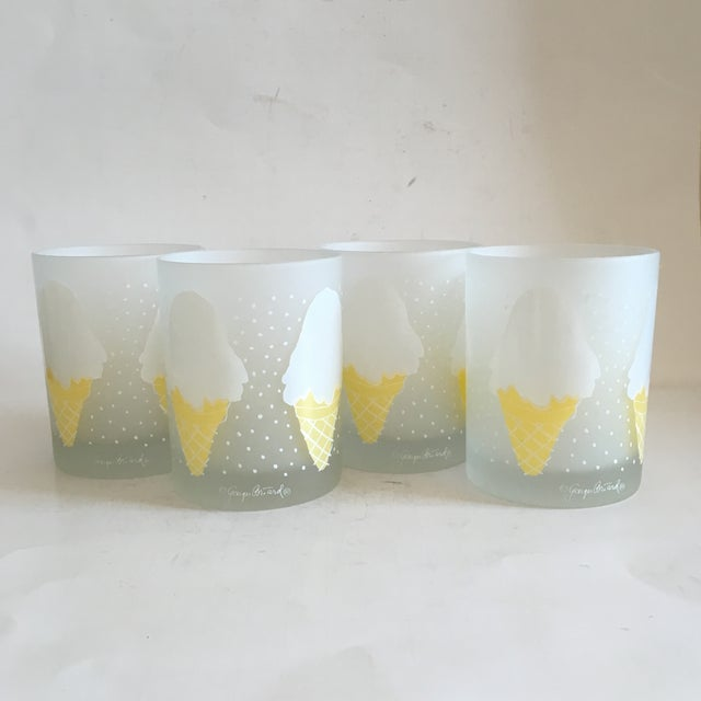 Georges Briard Ice Cream Old Fashion Glasses - S/4 - Image 2 of 5