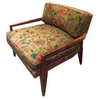 Mid-Century Floral Paisley Chair