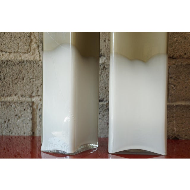 Image of Pair Mid Century Cased Glass Bottles