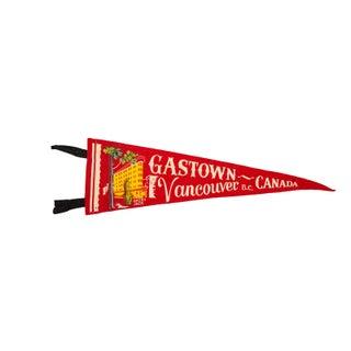 Gastown, Vancouver BC Canada Felt Flag