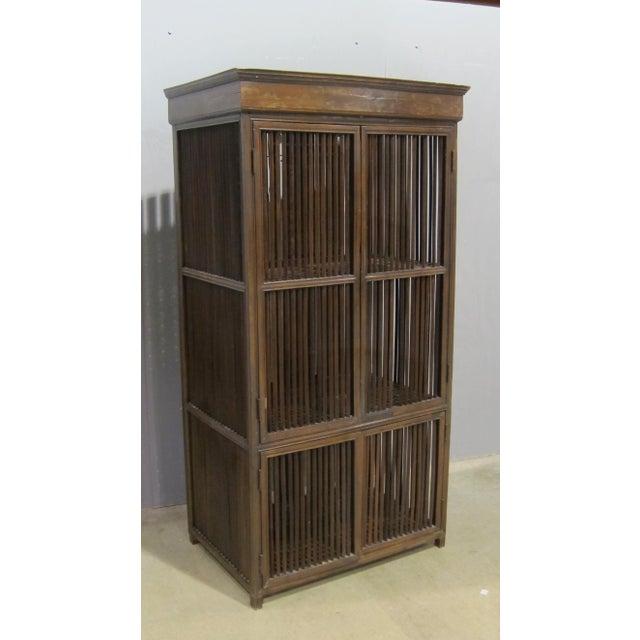 Image of Vintage Sarreid LTD Philippine Teak Cabinet Cupboard
