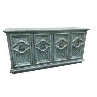 Hand Painted Vintage Buffet Credenza