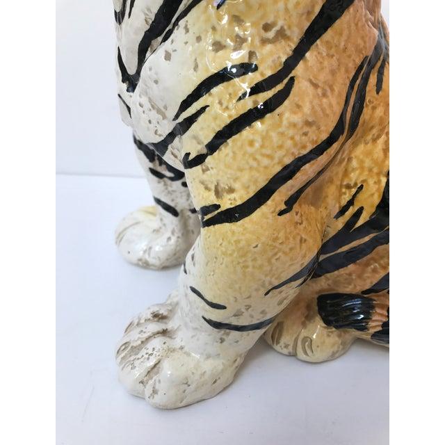 Hand Painted Italian Ceramic Tiger - Image 4 of 9
