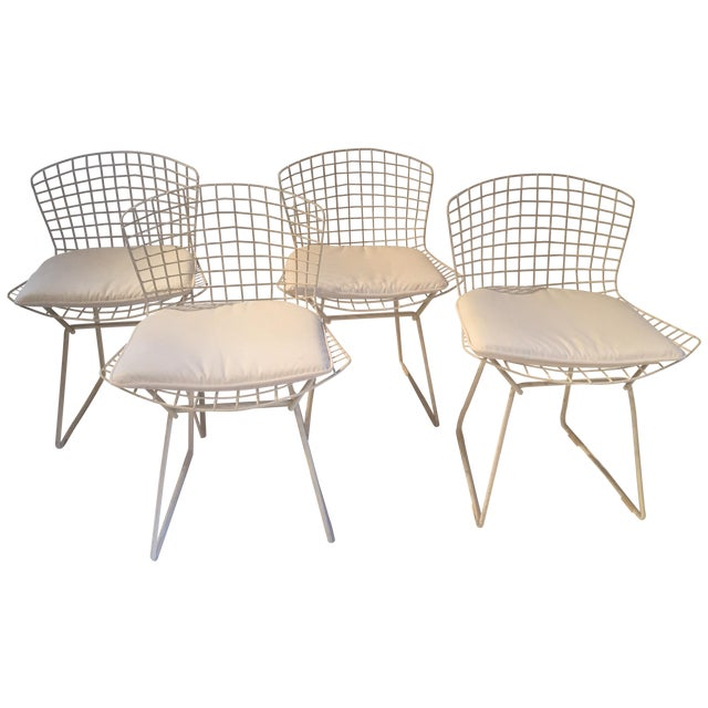 Original Bertoia Dining Chairs Set Of 4 Chairish