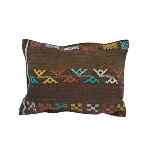 Handwoven Cactus Silk Moroccan Pillow