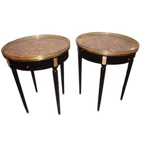 Louis XVI Style Bouillotte End Tables - A Pair