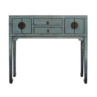 Chinese Distressed Gray Foyer Table