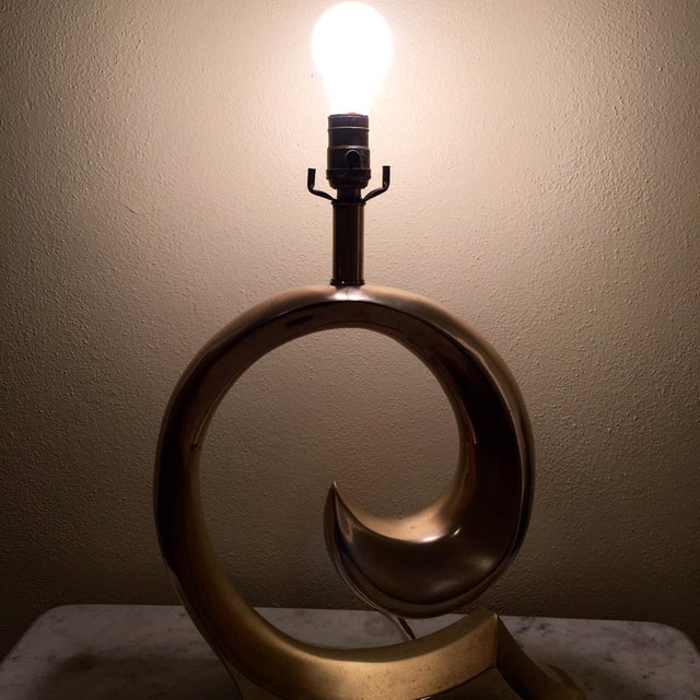 Image of 1970s Brass Pierre Cardin Lamp