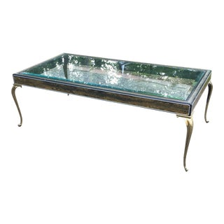 Brutalist Brass Cabriole Leg Coffee Table
