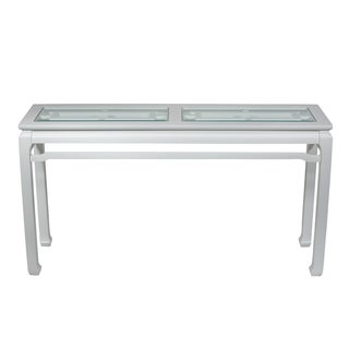 Oriental-Style Fretwork Console Table