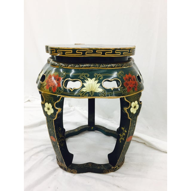 Vintage Asian Lacquered Side Table - Image 4 of 8