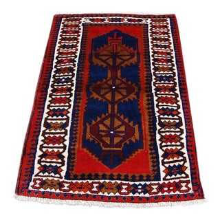 Semi Antique Persian Hamedan Rug - 3′ × 5′