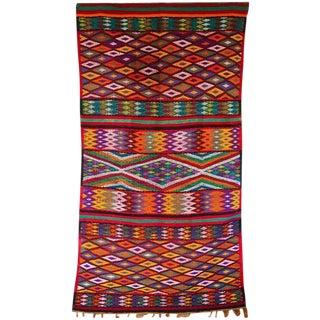 Large Colorful Moroccan Kilim Carpet - 6'' x 11''