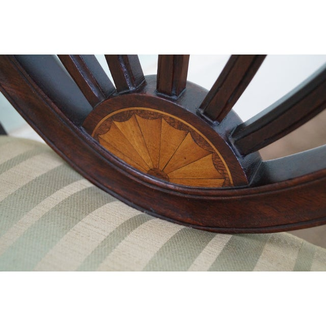 Mahogany Federal Style Inlaid Dining Chairs - 6 - Image 8 of 10