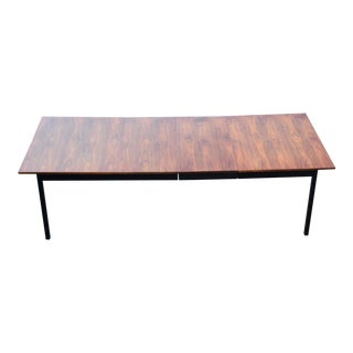 Walnut & Ebonized Dining Table