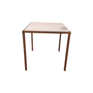 Global Views Gold & Marble Side Table