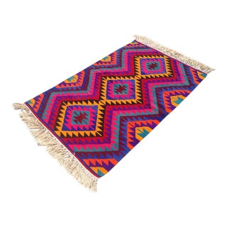 Vintage Turkish Kilim Rug - 3′1″ × 4′9″