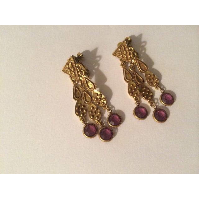 Image of Purple Bohemian-Style Earrings