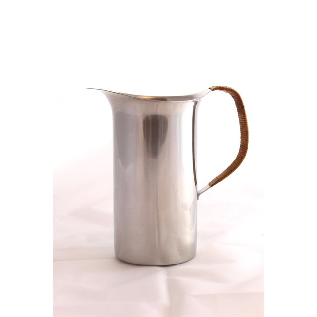Vintage Danish Stainless Pitcher - Image 2 of 6