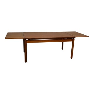 Floating Danish Teak Draw Leaf Dining Table
