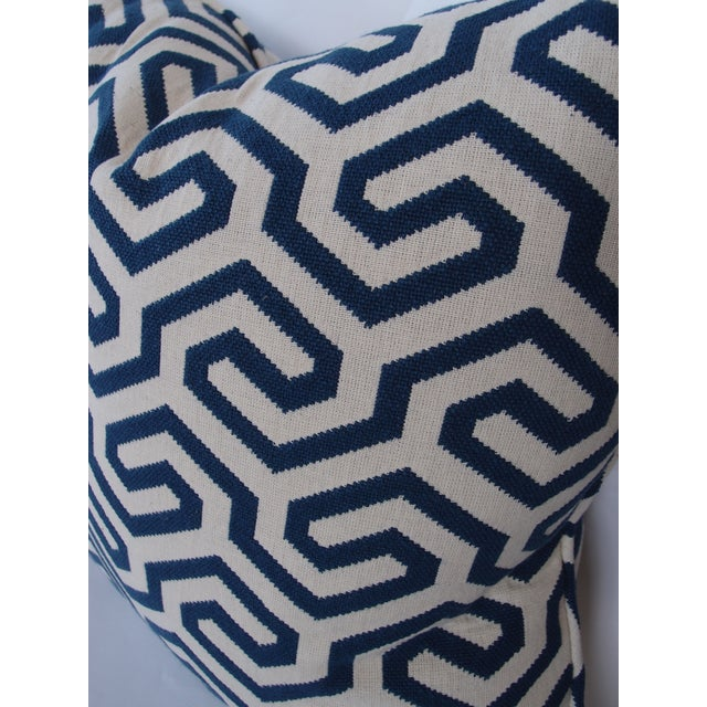 Navy Geometric Schumacher Pillow - Image 4 of 5