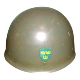 Vintage Steel Swedish Army Helmet