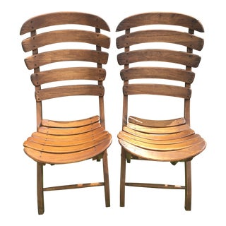 Van Thiel and Co Folding Chairs- A Pair