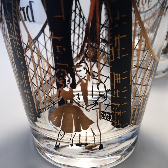 "2 - Hollywood Regency Lo-Ball Glasses ""A View From the Bridge"" - Image 8 of 10"