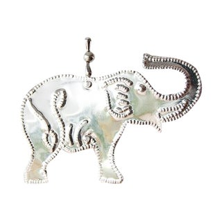 Hanging Aluminum Elephant Ornament