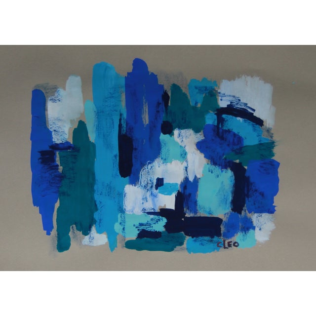 Image of Blue Skies Abstract Painting by Cleo