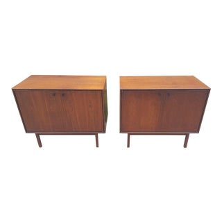 Milo Baughman for Arch Gordon Walnut Cabinets - A Pair