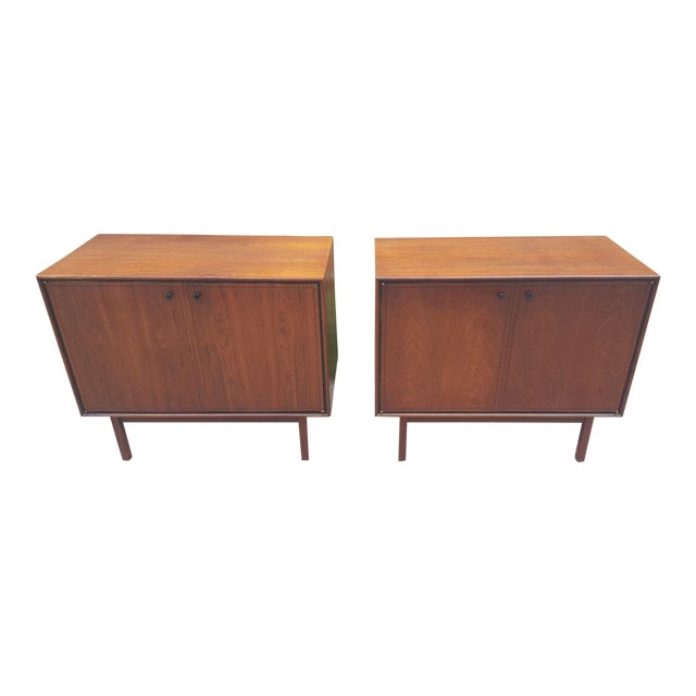 Image of Milo Baughman for Arch Gordon Walnut Cabinets - A Pair