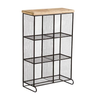 Wire Mesh 6 Bin Cubicle Storage