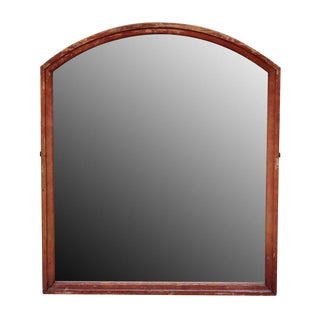 Arched Wood Framed Vanity Mirror