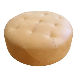Genuine Round Leather ottoman / Coffee table