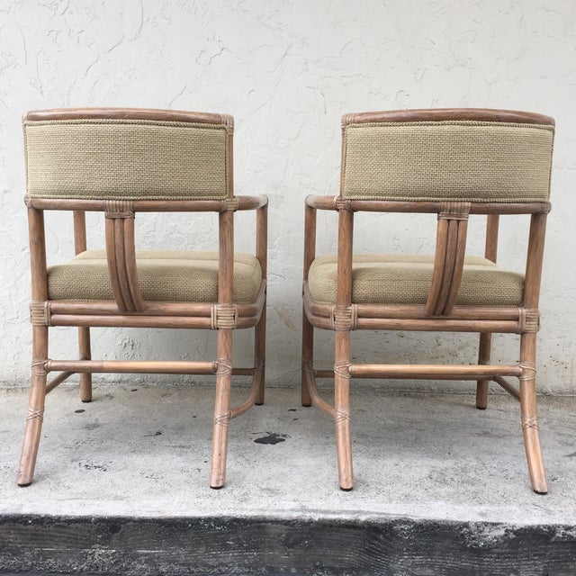 McGuire Manhattan Chairs - Set of 4 - Image 4 of 10