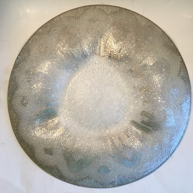 Dorothy Thorpe Silver Splatter Serving Platter - Image 3 of 7