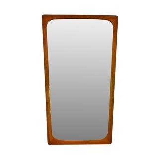 "Danish Modern Teak Mirror 23"" high - Anny"